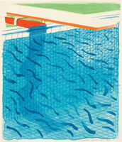 David Hockney, 'Pool Made with Paper and Blue Ink for Book, from Paper Pools (T.G. 269; M.C.A.T. 234)', 1980