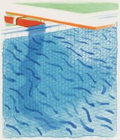 David Hockney, 'Pool made with paper and blue ink for book (M.C.A.T. 234; T. 269)', 1980