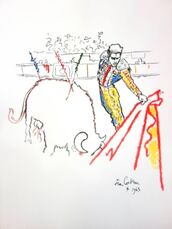 "Original Lithograph ""Torrero"" by Jean Cocteau"