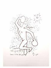 """Original Lithograph """"The Boxer"""" by Jean Cocteau"""