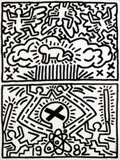 Keith Haring 1982 Nuclear Disarmament poster
