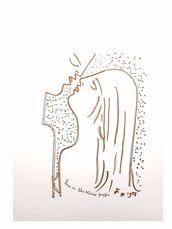 "Original Lithograph ""Chasm"" by Jean Cocteau"