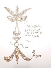"""Original Lithograph """"The Voice"""" by Jean Cocteau"""