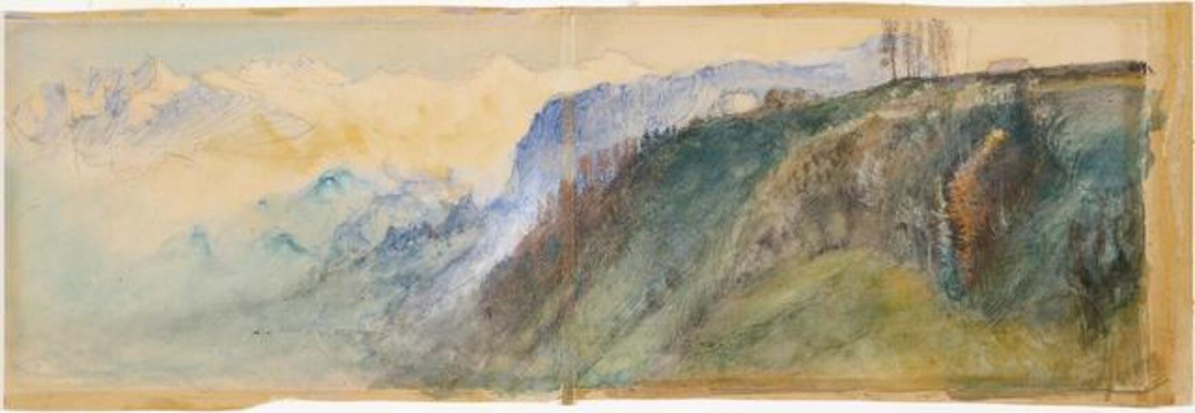 John Ruskin, 'Bernese Oberland', 1866