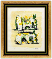 Henry Moore, 'Henry Moore Original Color Lithograph Signed Reclining Figures Sculpture Artwork', 1950-1969
