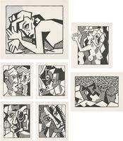 Roy Lichtenstein, 'Expressionist Woodcut Series (Black State)', 1981