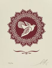 Peace Dove Letterpress Print