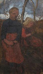 Paula Modersohn-Becker, 'Two Girls Sitting in Landscape', 1905