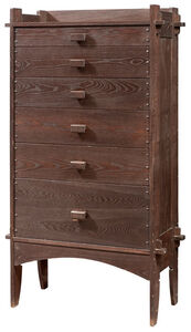 Charles Rohlfs, 'Arts and Crafts Oak Chest of Drawers', circa 1907