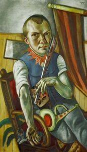 Max Beckmann, 'Self portrait as a clown', 1921