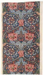 """William Morris (1834-1896), 'Furnishing Fabric; """"Honeysuckle""""', 1876"""