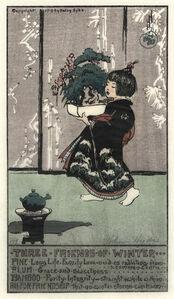 Helen Hyde, 'Three Friends of Winter', 1913