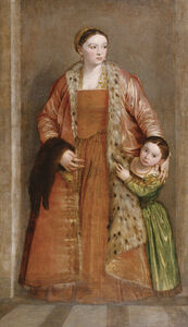 Paolo Veronese, 'Portrait of Countess Livia da Porto Thiene and her Daughter Deidamia', 1552