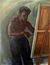 An Anxious Painter (Self-Portrait)