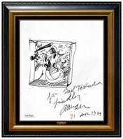 Arman, 'ARMAN Pierre Fernandez Original Ink Drawing Hand Signed Violin Modern Artwork', 1970-1989