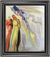 Salvador Dalí, 'Salvador Dali Rare Glazed Ceramic Signed Divine Comedy Ancestors Apparition Art', 1971