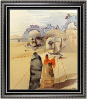 Salvador Dalí, 'Salvador Dali Divine Comedy Glazed Ceramic Signed Avarice Prodigality Framed Art', 1971