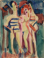 Nackte Frau zwischen zwei Männern (Nude Woman in Between of two Men)