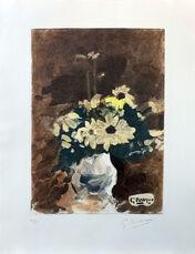 Vase de fleurs jaunes