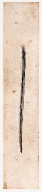 Tom Marioni, 'Drawing a Line', 2012, Print, Drypoint with plate tarnish printed in sepia and black, Crown Point Press