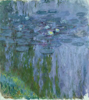 Claude Monet, 'Water Lilies, Willow Reflection,', 1916–1919