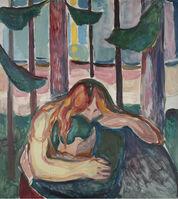 Edvard Munch, 'Vampire in the Forest', 1916-1918