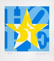 Robert Indiana, 'STAR of HOPE (Blue/ Yellow/ White)', 2013