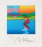Peter Max, 'Sailboat with Sun & Moon', 2003