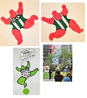 "Niki de Saint Phalle, ''NANA Pink', Inflatable Sculpture, 23"" High, RARE', 1996"