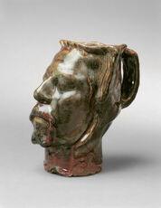 Pot en forme de tête, Autoportrait (Jug in Form of a Head, Self-Portrait Stoneware)