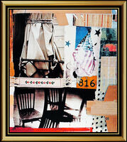 Robert Rauschenberg, 'Robert RAUSCHENBERG Original Hand Signed Embossed Screenprint Tag New York Art', 1990-1999