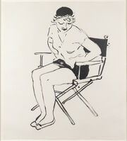 David Hockney, 'Celia in the Director's Chair', 1980