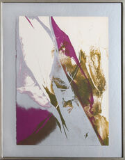 Purple and Gray Abstract, 1967 by Paul Jenkins