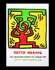 Keith Haring at San Francisco Museum of Modern Art poster