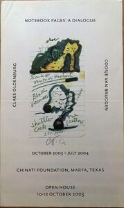 Claes Oldenburg, 'Chinati Foundation, Marfa Texas (Hand Signed)', 2003