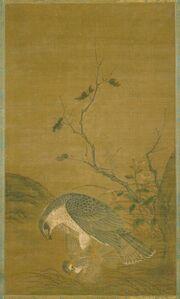 Ren Renfa, 'Hawk Capturing A Sparrow', date unknown