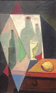 Ángel Zárraga, 'Naturaleza muerta con botellas', 1915-1917