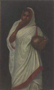 Hemen Majumdar, 'Untitled (Lady in Sari)', NA