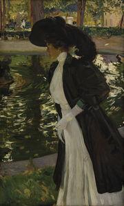 Joaquín Sorolla y Bastida, 'Clotilde Strolling in the Gardens of La Granja', 1907