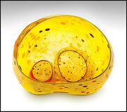 Dale Chihuly Original 3 Piece Seaform Basket Set Hand Blown Glass Authentic Art