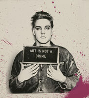 Mr. Brainwash, 'Jailhouse Pop, Pink Splash Elvis'