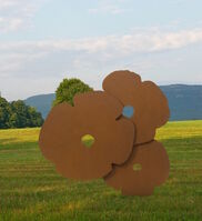 Donald Sultan, 'Big Corten Poppies', 2015