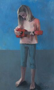 Claerwen James, 'Girl With a Ukulele 4', 2018