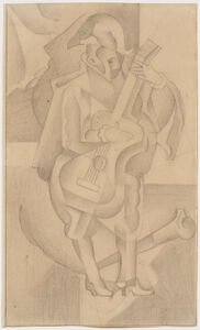 Juan Gris, 'L'Homme à la guitare', 1918