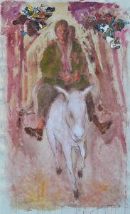 Asad Azi, 'Donkey Rider', 1998
