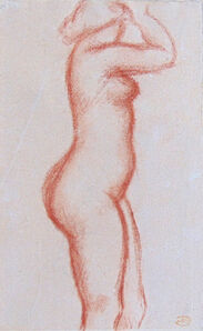 Aristide Maillol, 'Standing Nude   Nude with raised Arms', Early 20th