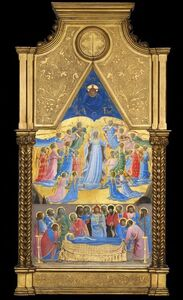 Fra Angelico, 'The Death and Assumption of the Virgin ', before 1434