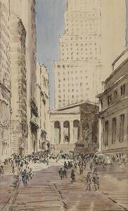 James McBey, 'Sub-Treasury Building, Wall Street, New York City', 1930