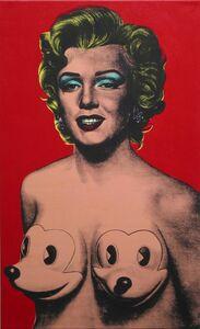 Ron English, 'Marilyn with Mickeys', 2005