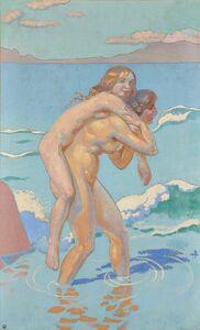 Maurice Denis, 'Jeux de Nausicca : Femme portant sa compagne', 1914